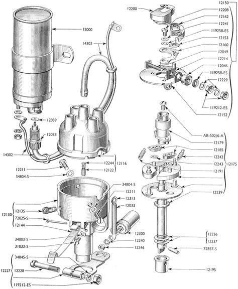 distributor  hp small ford spares