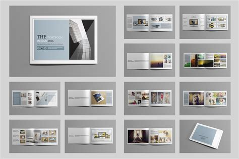 portfolio template pdf indesign portfolio brochure v419 brochure templates on creative market