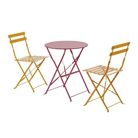 chaises pliantes de jardin lot de 2 chaises de jardin pliantes camargue mandarine