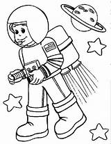 Astronaut Coloring Pages Space Community Helpers Kid Suit Colouring Rocket Printable Drawing Astronout Booster Wearing Preschool Simple Getdrawings Cartoon Titan sketch template