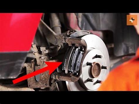 replace rear brake discs  rear brake pads