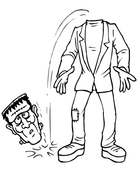 Frankenstein Pumpkin Stencil Free by Halloween Coloring Pages For Kids Free Coloring Pictures