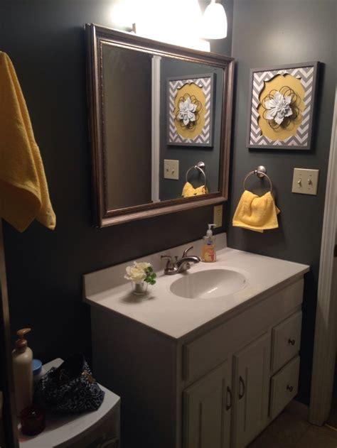 grey  yellow bathroom gray bathroom decor yellow