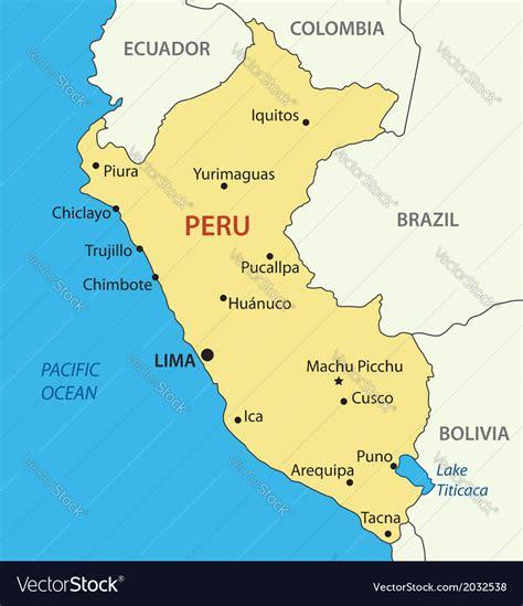 republic  peru map royalty  vector image