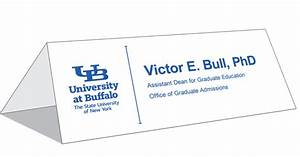 table tent cards identity and brand university at buffalo With template for table tent cards