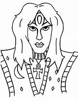 Coloring Kiss Pages Band Kissing Lips Rock Drawing Template Getcolorings Printable Colorings Getdrawings Vinnie Vincent sketch template