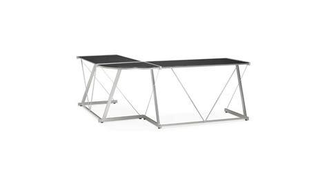 plateau de bureau d angle mercure bureau d 39 angle design plateau verre noir