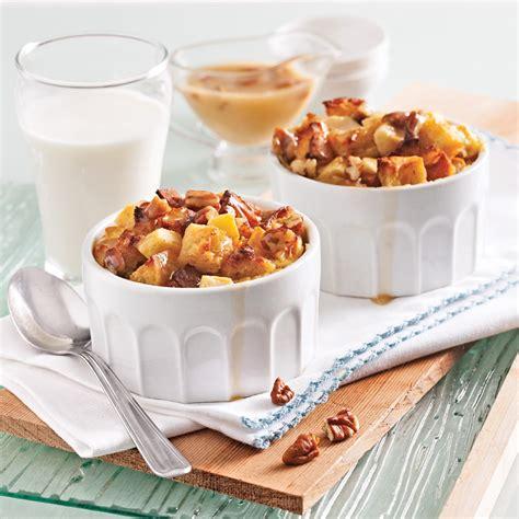 cuisine recettes pratiques pouding au et pommes sauce caramel aux pacanes recettes cuisine et nutrition pratico