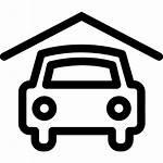 Garage Icon Symbol Symbols Garages Outline Roof