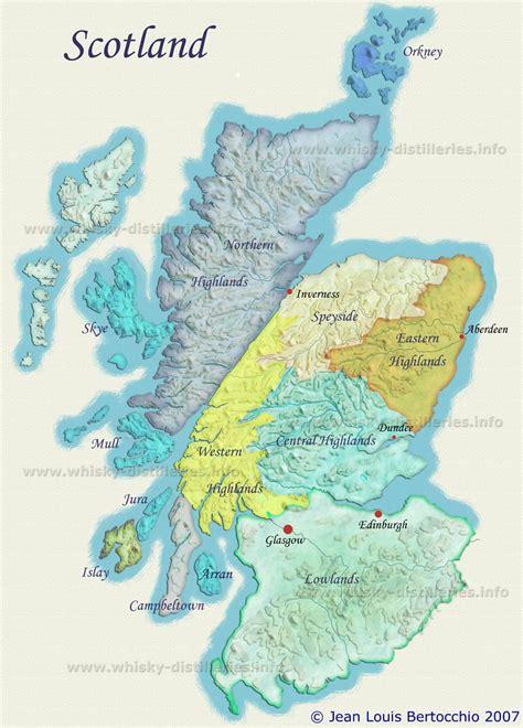 map  scotch whisky distilleries  regions scotland maps pinterest schottland