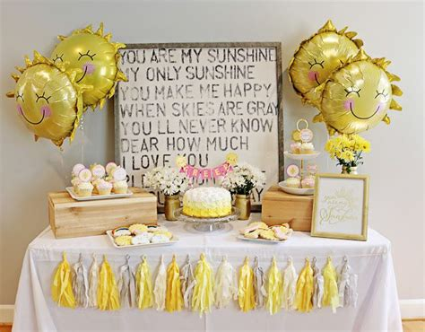 you are my sunshine 1st birthday pinterest birthday party themes cake table and sunshine