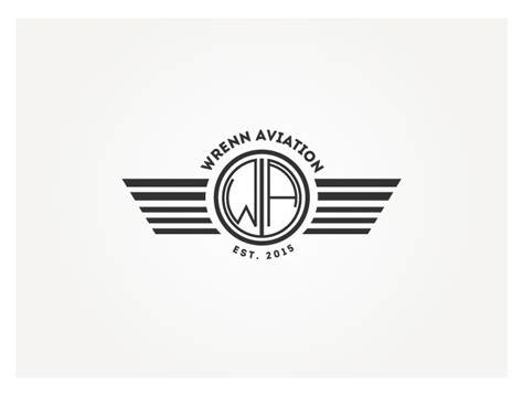 deco logo design playful logo design for wrenn aviation by design 6314450