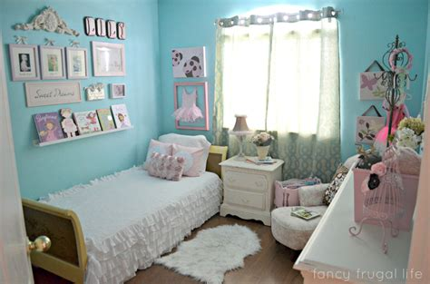 Fancy Frugal Girly Pink & Aqua Bedroom