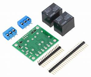 Pololu Dual Spdt Relay Carrier Pcb Kit With 12vdc Relays