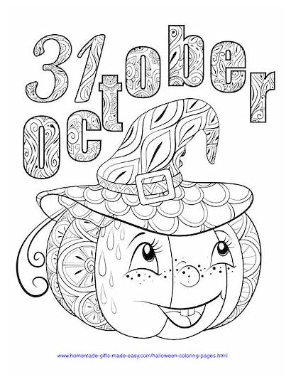 Coloring Halloween Pages October Easy Homemade Gifts