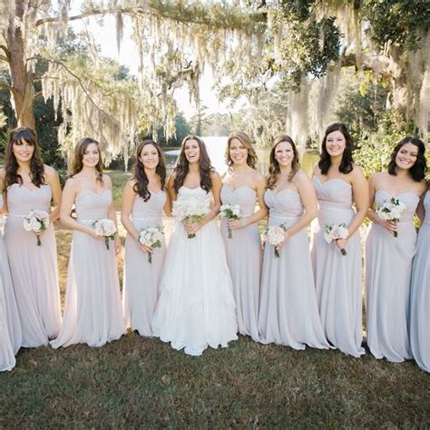 light grey bridesmaid dresses light gray bridesmaid dresses with small bouquets
