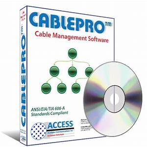Cablepro cable management software for it for As built software documentation