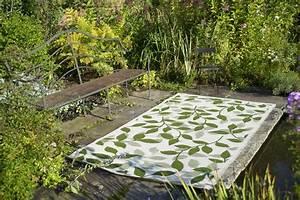 Outdoor Teppich Balkon : garten im quadrat outdoor teppich bali gr n cremewei bl tter muster ~ Whattoseeinmadrid.com Haus und Dekorationen