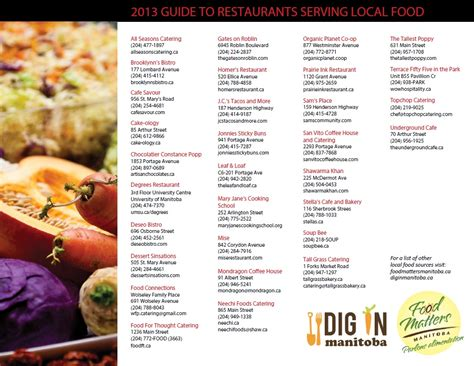 guide cuisine local restaurant catering guide food matters manitoba
