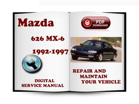 car service manuals pdf 1997 mazda b series instrument cluster mazda 626 mx 6 1992 1997 service repair manual download manuals