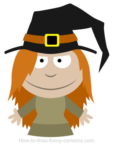 drawing  witch cartoon