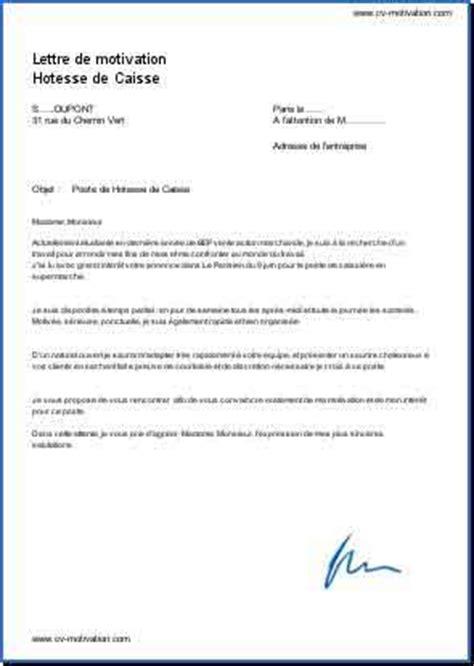 modele lettre de motivation hotesse de caisse lettre de motivation hotesse de caisse carabiens le forum