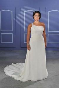 cheap beach wedding dress one shoulder cheap chiffon plus With beach wedding dresses plus size