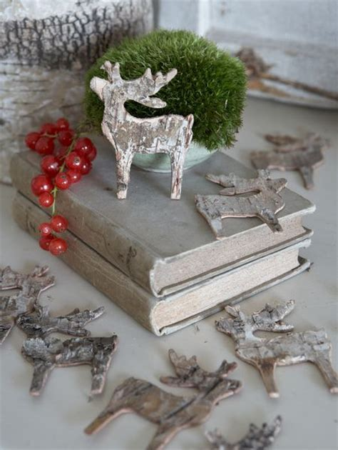 birch reindeer table decorations nordic house