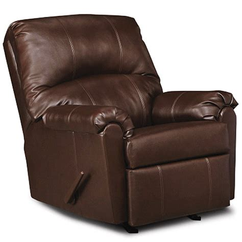simmons rocker recliner brown faux leather