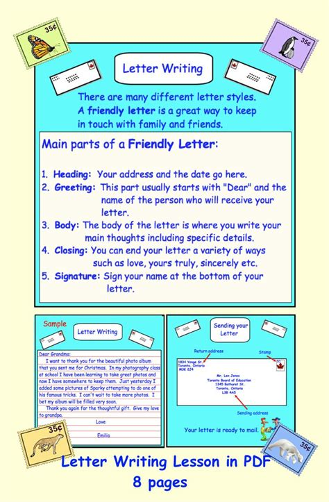 letter writing friendlybusiness  writing lessons