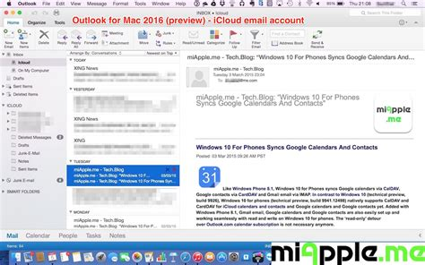 outlook 2016 email setting up icloud email on outlook 2016 for mac miapple me