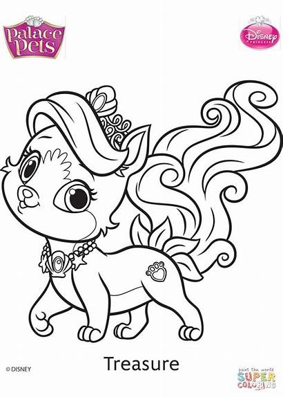 Palace Pets Coloring Disney Treasure Pages Coloriage