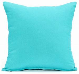 solid aqua blue accent throw pillow cover 16quotx16 With aqua colored pillows