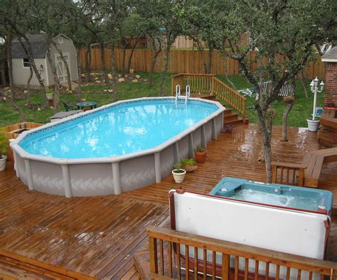 Pictures Of Decks Around Above Ground Pool by Best Swimming Pool Deck Ideas