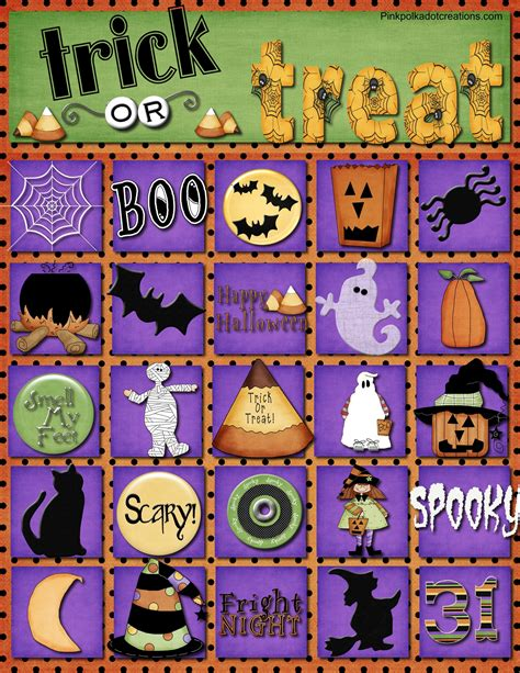 halloween printable bingo sheets festival collections
