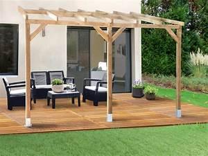pergola en bois avec ou sans toit en polycarbonate With couverture de terrasse en bois