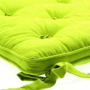 Coussin Vert Anis : coussin de chaise 5 boutons vert anis galette et coussin de chaise eminza ~ Teatrodelosmanantiales.com Idées de Décoration