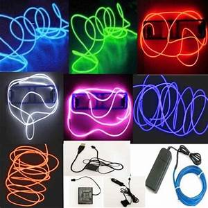 Neon Led 12v : 5m led neon light 12v flexible el wire led strip light christmas home decoration led neon ~ Medecine-chirurgie-esthetiques.com Avis de Voitures