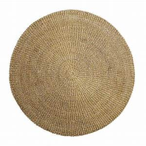 tapis rond d39herbier marin naturel o200cm With tapis rond naturel
