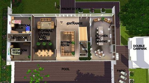 sims 3 house floor plans modern modern house floor plans sims 3 home design and style