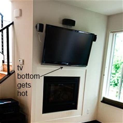 wall mount electric fireplace no heat how to prevent wall mounted tv above fireplace from