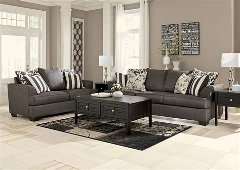 Charcoal Sofa Living Room by American Furniture Design Levon Charcoal Sofa Loveseat