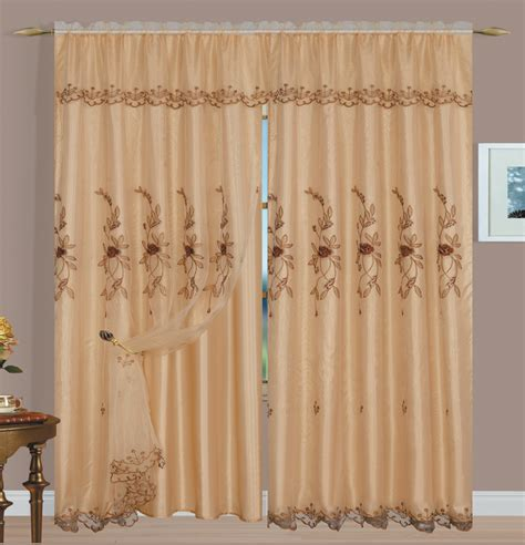 embroidered curtain panels margot embroidery panel gold luxury home textiles