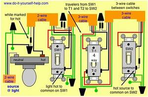 Way Switch Wiring Diagrams Doityourselfhelp