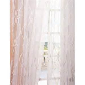 embroidered floral sheer curtains from sears com