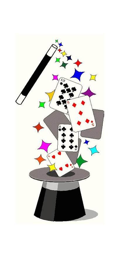 Magic Clip Clipart Magician Cliparts Cards Magical