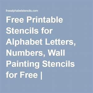 the 25 best ideas about wall painting stencils on With letter wall stencils for painting