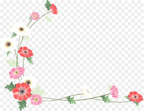 borders  frames flower watercolor painting clip art