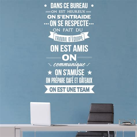 sticker citation dans ce bureau on est une team stickers