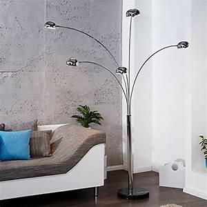Stehlampe Retro Design : retro design klassiker stehlampe lampe five fingers space lounge leuchte silber mit fu in ~ Bigdaddyawards.com Haus und Dekorationen